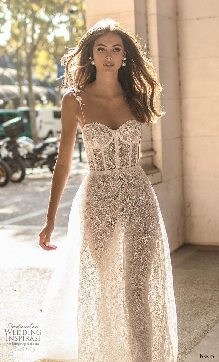 Awesome berta fall 2019 muse bridal spaghetti strap sweetheart neckline full embellishme…