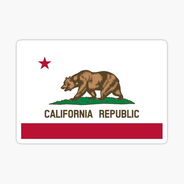 American Flag Sticker By States American Flag Sticker California Republic Flag California Flag