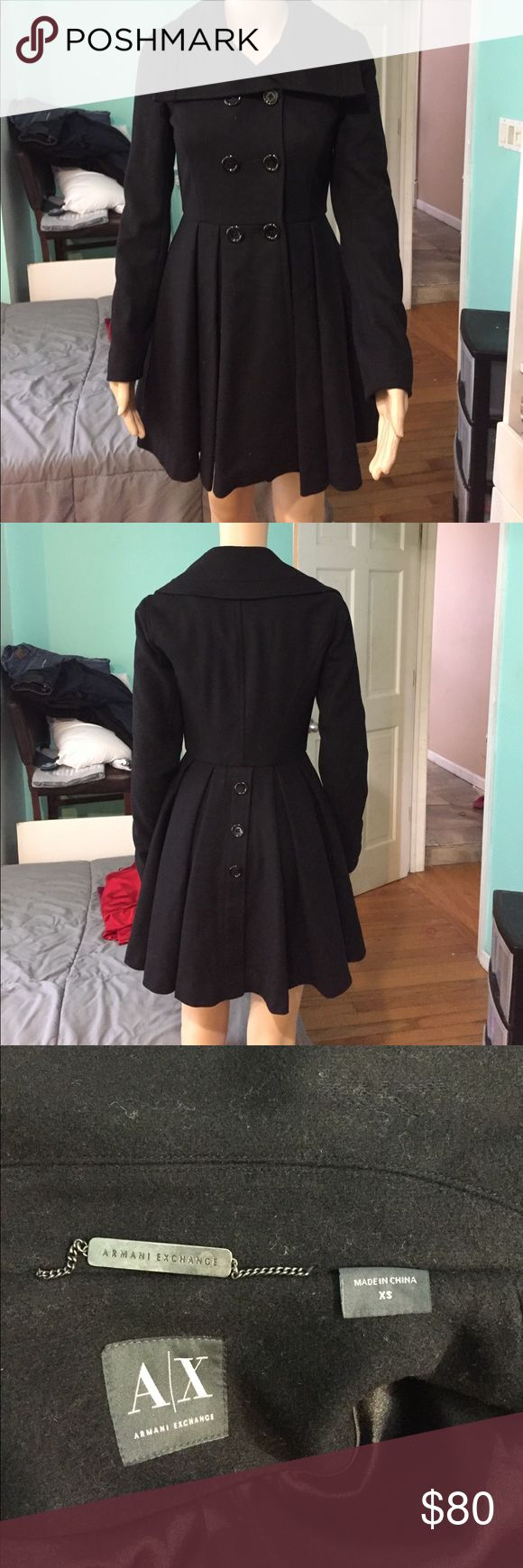 Armani Exchange Coat Excellent condition.  Used two or three times A/X Armani Exchange Jackets & Coats Pea Coats