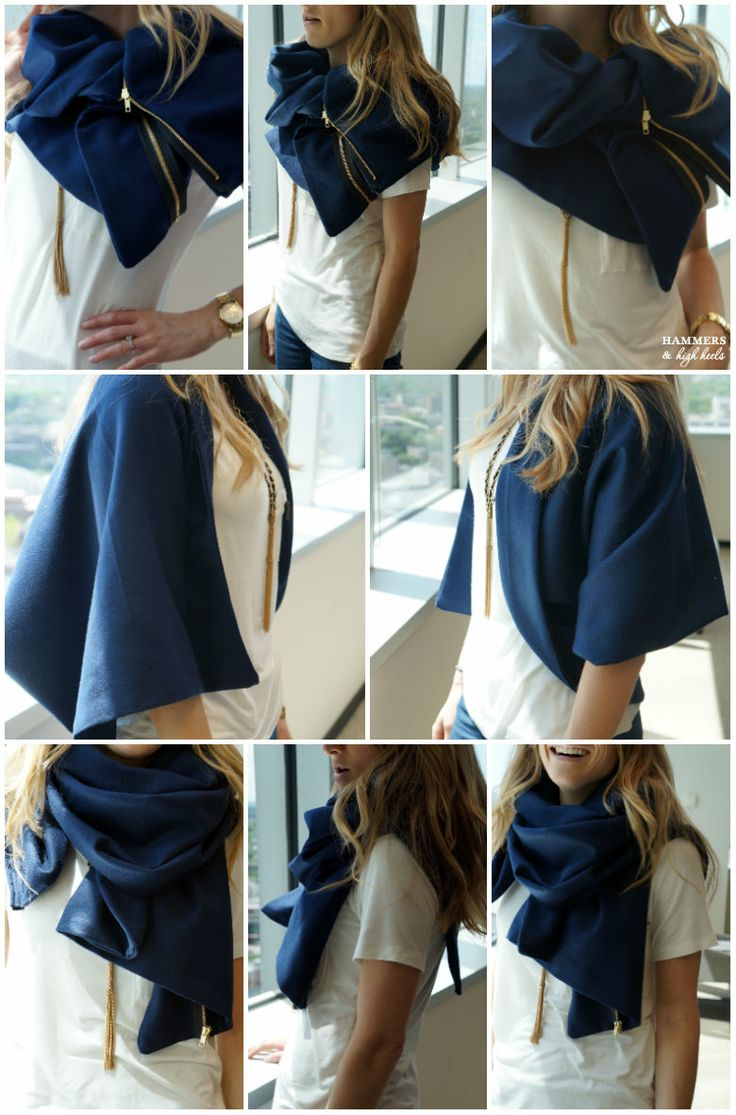 How to make your own Gold Zipper Trimmed Scarf, everyone needs one of these!