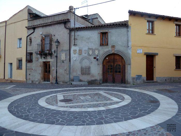 Main Square - Villamar, Sardinia, photo by Viconart