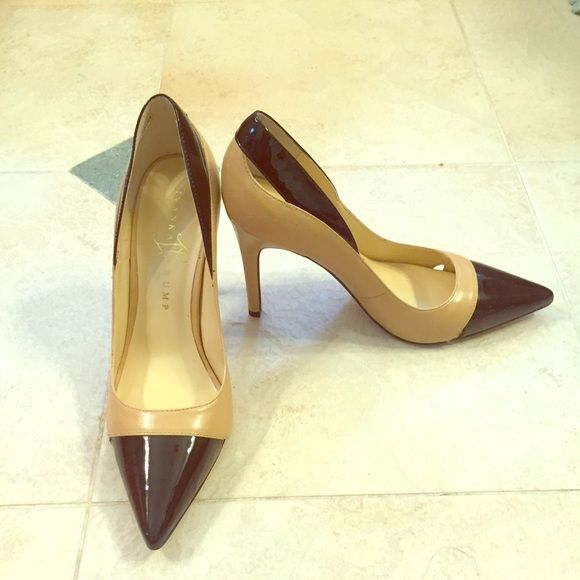 Ivanka Trump two tone heels Super cute two tone heels by Ivanka Trump. A necessary addition to any work wardrobe. Great for all events and evening wear. Ivanka Trump Shoes Heels