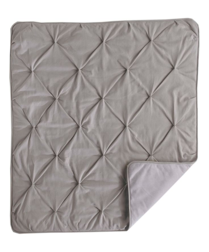 This Living Textiles Baby Gray Pin Tuck Comforter by Living Textiles Baby is perfect! #zulilyfinds