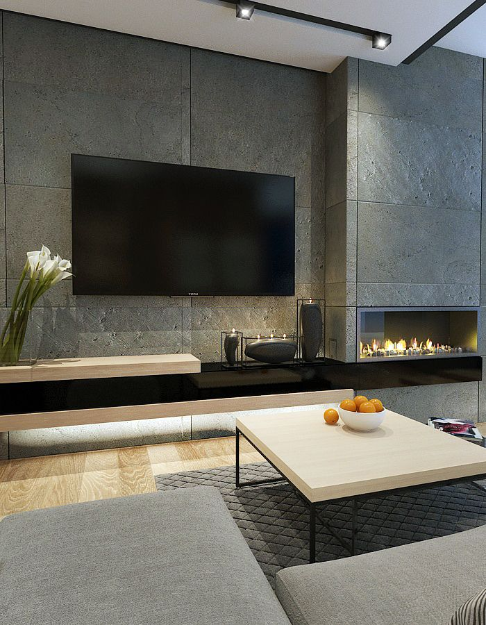 get started on liberating your interior design at decoraid in your city ny sf the fireplacetextured wallsmodern tv - Modern Tv Wall Design