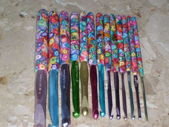 Beautiful Set of Polymer Clay Covered por thefancifulfeline en Etsy