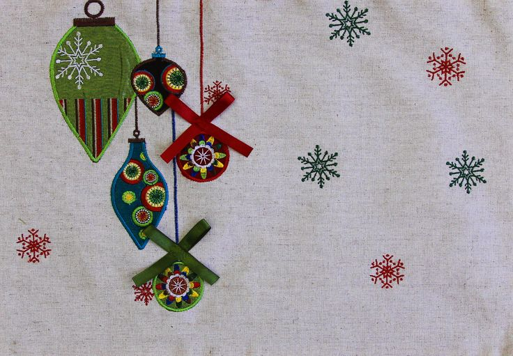 Tidings Placemat in Linen