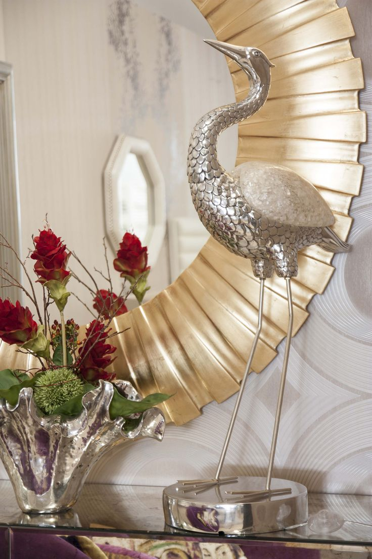 Heron Lamp #PureLiving #GreenApple #GAhomestyle #homestyle #Lamp #NacrePearl #Heron