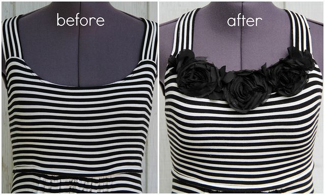 how to raise a neckline with spiral flowers