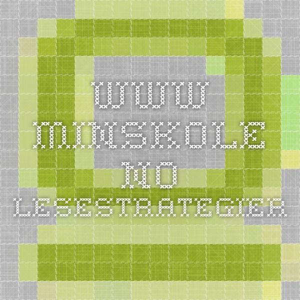 www.minskole.no lesestrategier