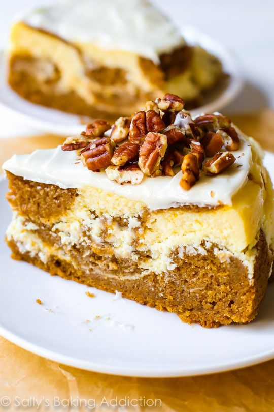 This two-in-one dessert Pumpkin Cake Cheesecake is a must try this fall!