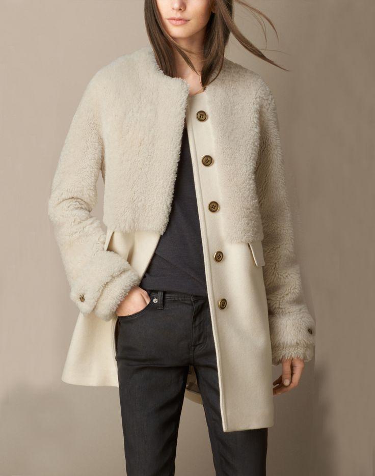Apricot Long Sleeve Faux Fur Pockets Coat 39.39