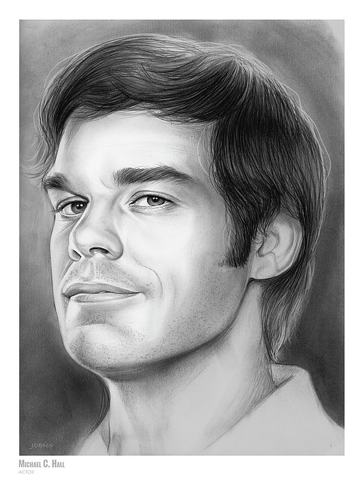 Michael C. Hall - Sketch of the Day for Tuesday, August 22, 2017  Michael Carlyle Hall (born February 1, 1971) is an American actor, known for his roles as Dexter Morgan, a serial killer and blood spatter analyst, in the Showtime TV Network series Dexter, and as David Fisher in the HBO drama series Six Feet Under. In 2010, Hall won a Golden Globe Award and a Screen Actors Guild Award for his role in Dexter.  Source: Wikipedia