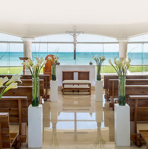 The chapel at Moon Palace. The best destination weddings | Palace Resorts®️…