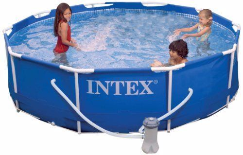 Intex Metal Frame Pool Set 10 Feet X 30 Inch In 2020 Metal Pool Intex Best Above Ground Pool