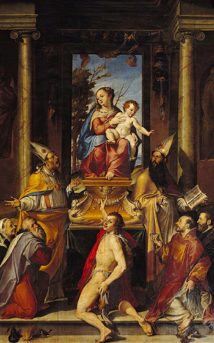 Bartolomeo Paserotti. Madonna in trono. 1560-1565. San Giacomo Maggiore.  Bologna. Citazione di Correggio