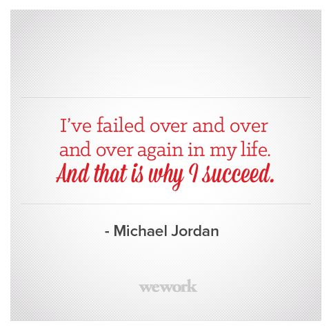 WeWork Inspirational Quote // Michael Jordan