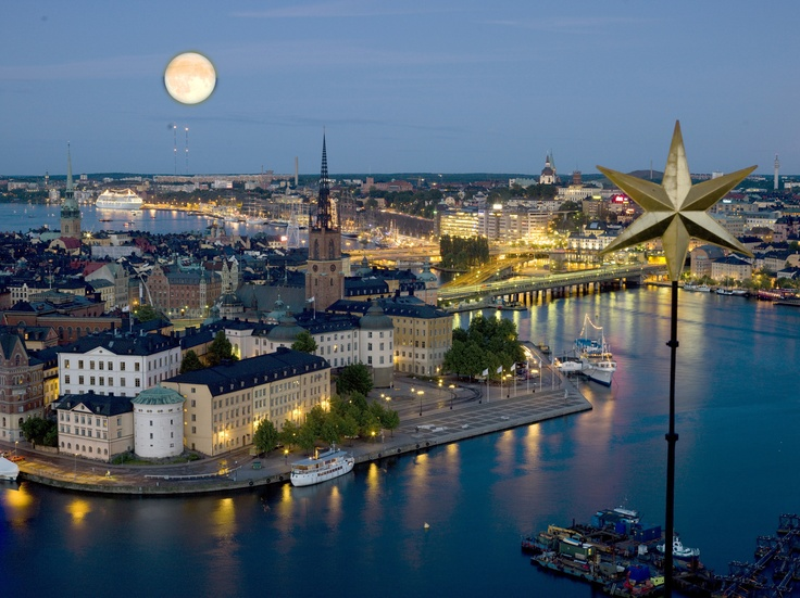 Stockholm by night.