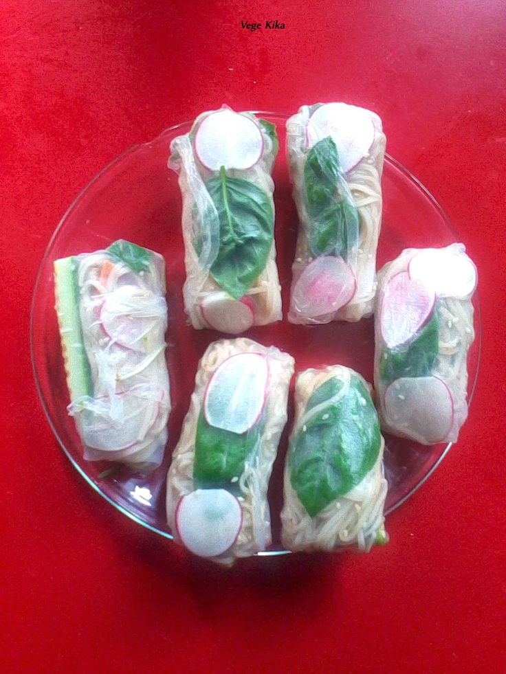Spring Rolls with tofu, avocado and many other ;)