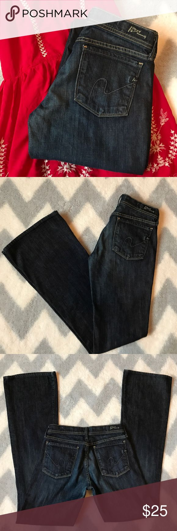 🦋 SALE! Citizens of Humanity jeans Citizens of Humanity jeans, style is Ingrid #002 stretch, low waist flare. Dark wash, excellent condition no rips or stains. Citizens of Humanity Jeans