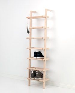 1 large leanon shoe rack made of ash
