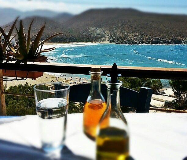 Kolibithra beach tinos# waves#olive oil#vinegar