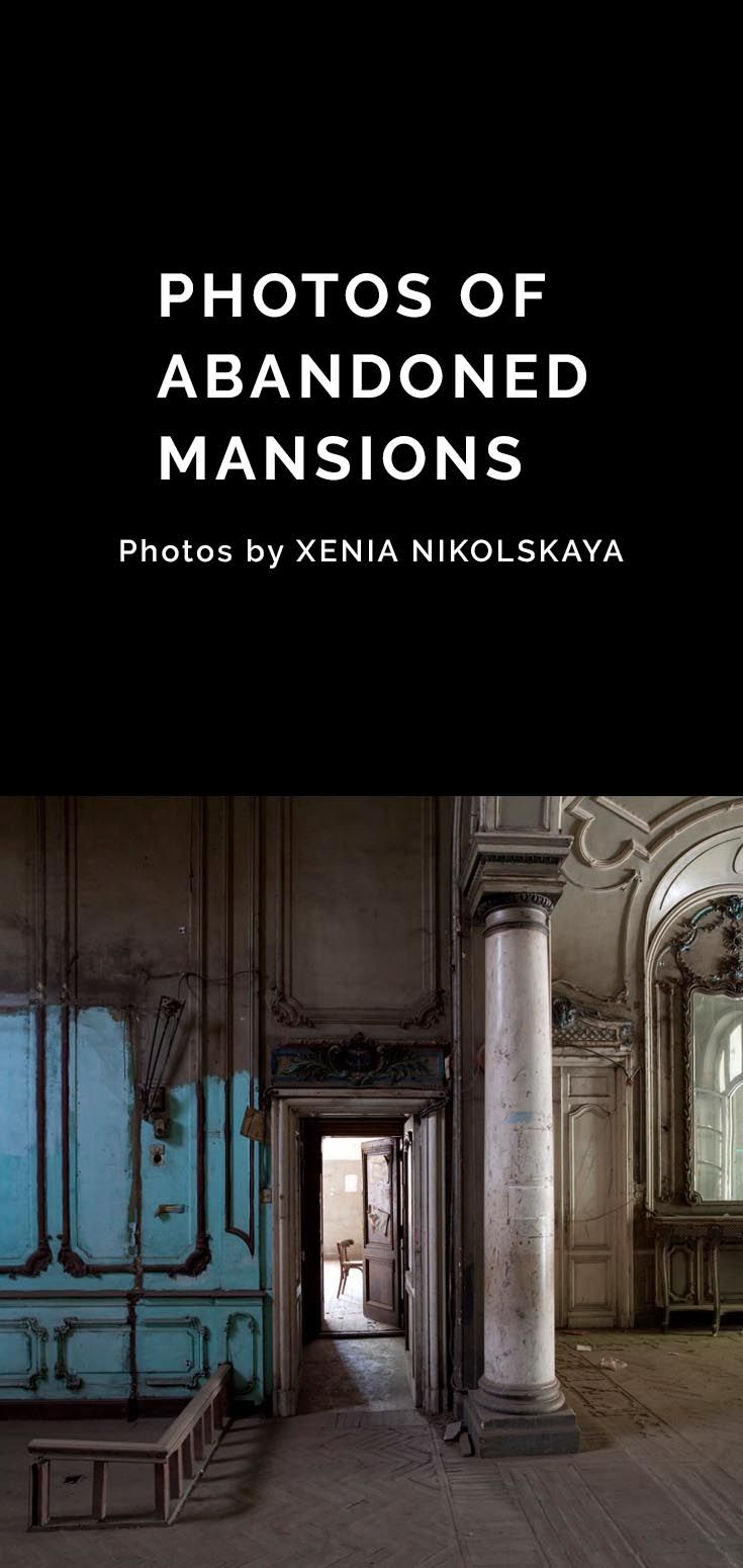 Shot by Russian-Swedish photographer Xenia Nikolskaya, the series highlights elegant mansions and homes that look right at home in Paris. These are leftover from the building boom that swept the nation between 1860 and 1940 under colonial rule.  These homes were vacated in the 1960s after a new regime enacted a disastrous rent-control policy. After the owners left, most of the lavish buildings fell into disrepair.