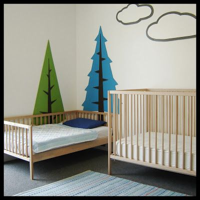 IKEA Crib Hack - Sniglar crib. Just chop the railings in half to lower!