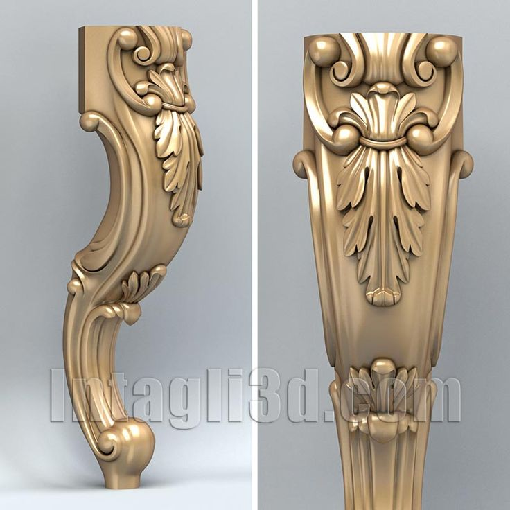 3D model for CNC routers and 3D printers (art. Furniture leg 005)
