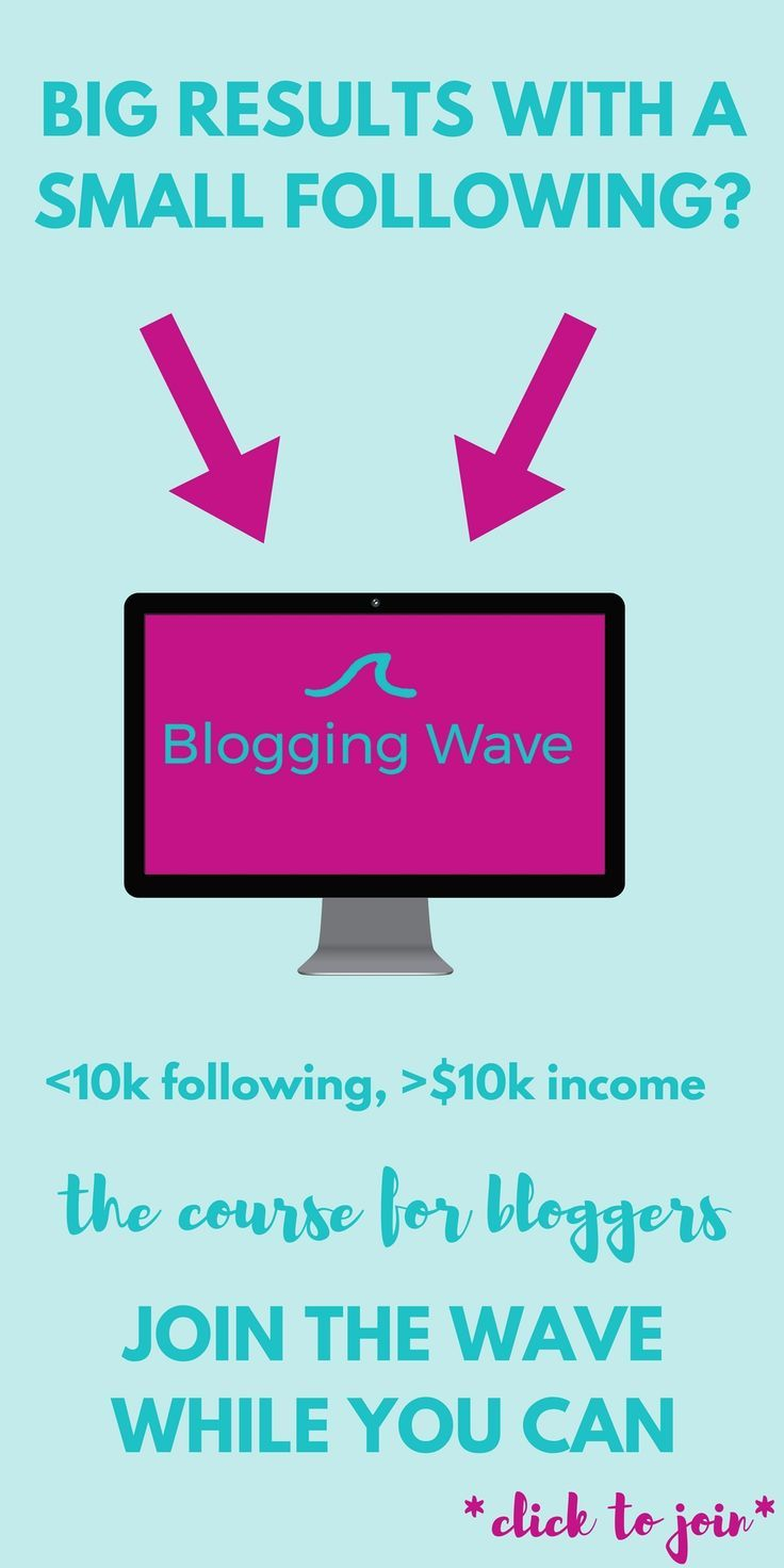 Blogging Wave the course for bloggers with a small following is for you if you google things like this: - how to become a fulltime blogger - how to earn money as a blogger with a small following - how to have blog sponsors email you - how to become a professional blogger - how to collaborate with brands - how to earn $10.000 a month - how to start with affiliates - how to earn more money and more questions! Click now: http://nonimay.teachable.com