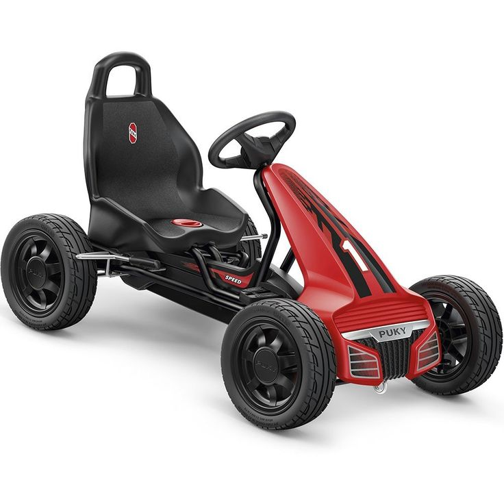 Puky F550L kettcar Children black 2017 kettcar. Pure emotion. For our little heroes. The new Puky Go-Cart! With it, Puky is setting new standards in the GoCart design and awakens incredible emotions in young and old. Following the modern design of the latest premium sedans, the F 550 L combines for the first time a compact, sporty look with the Puky-typical quality. And at an attractive price. The F 550 has a free-wheeling system with free-wheeling, forward and reverse gear; Ball-bearing...