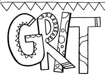 Character Ed Grit Coloring Page Coloring Pages Quote Coloring