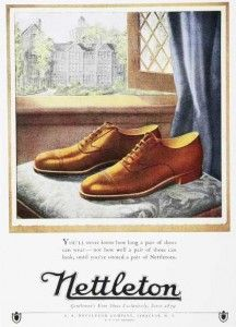 Mens 1920s Shoes History and Buying Guide - 1920s Mens Oxford Shoes Ad  www.vintagedancer.com/1920s/mens-1920s-shoes/