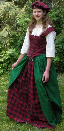 Traditional Scottish Dress | Trestle 2 Treasure :Historic and Evening Dresses: