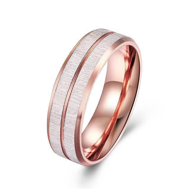 Titanium Steel 316L Damen Ring+Rose Gold+Gr 56 (17,8 mm Ø)+4,8 g+Neu