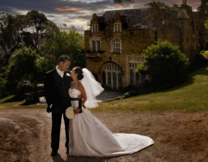 Weddings at The Great Hall of Montsalvat, Australia's oldest artists' colony in the Melbourne suburb of Eltham, Victoria.