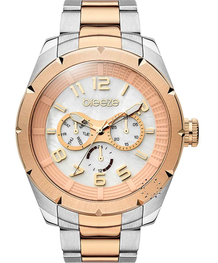 BREEZE Metallic High Two Tone Stainless Steel Bracelet Μοντέλο: 710181.8 Τιμή: 170€ http://www.oroloi.gr/product_info.php?products_id=38047