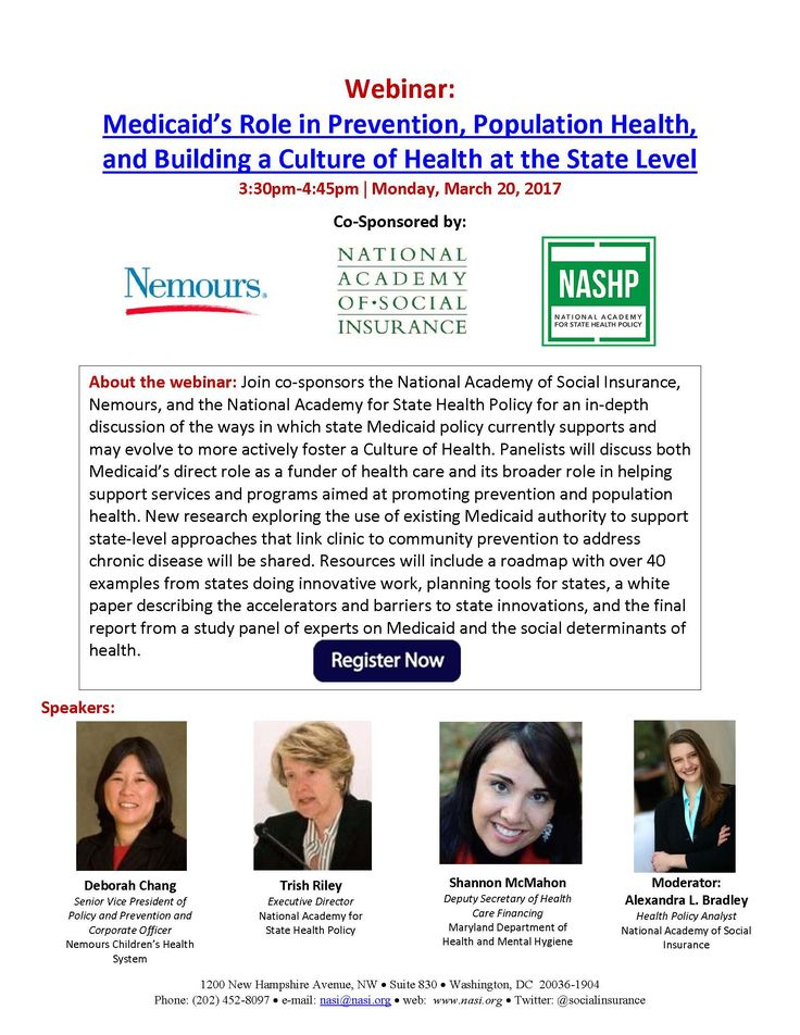 Register for our Medicaid and CultureOfHealth