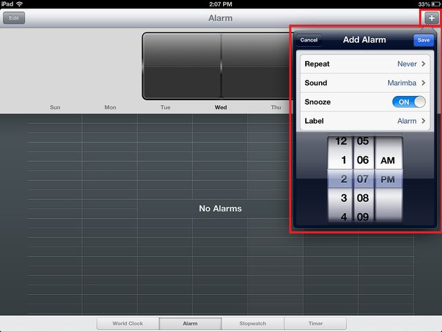 How to Setup an Alarm on Your iPad: Setting an Alarm on Your iPad Clock: