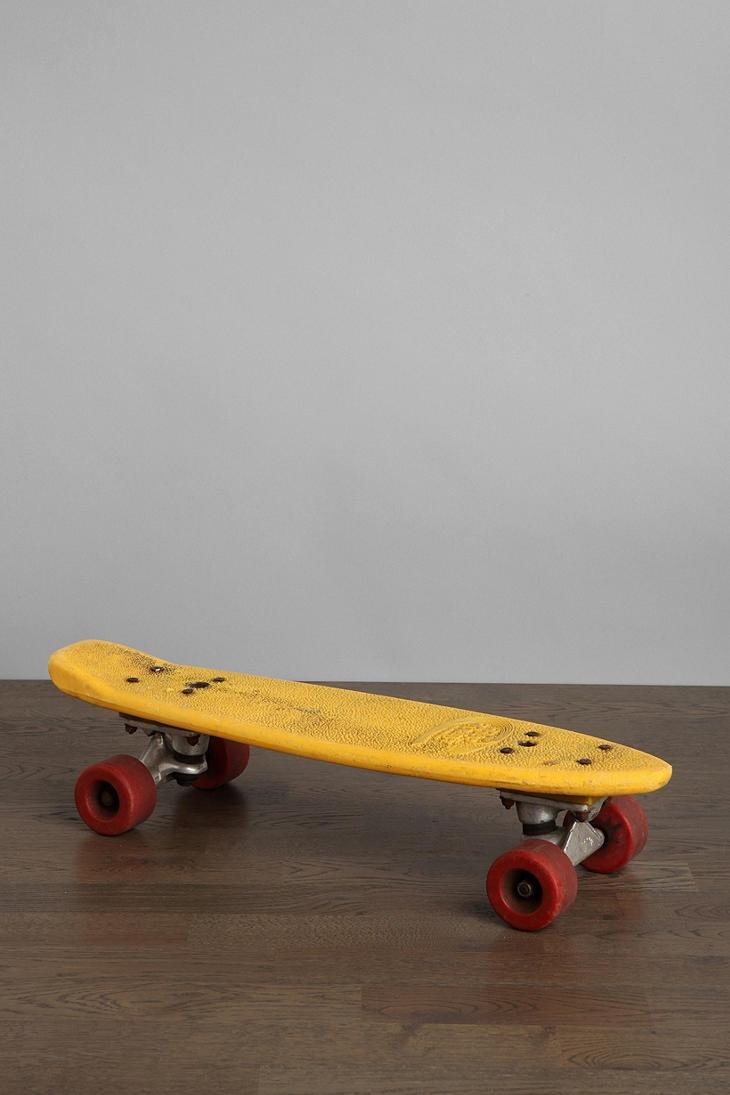 Labour. Between vintage skate boards have