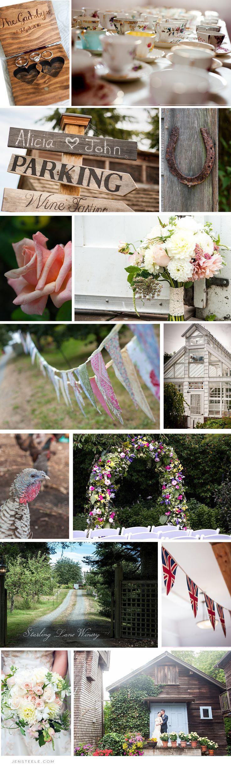 WEDDING AT STARLING LANE VINEYARD | JEN STEELE~ English Garden Vintage Wedding Details at local Vineyard