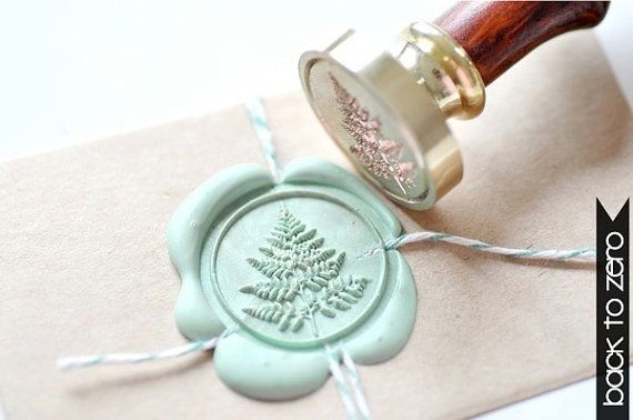 Fern Leaf Gold Plated Wax Seal Stamp x 1 by BacktoZero on Etsy, $20.00