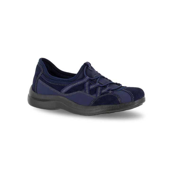 Easy Street Sport Laurel Women's Slip-On Shoes, Size: medium (6.5), Blue (Navy)
