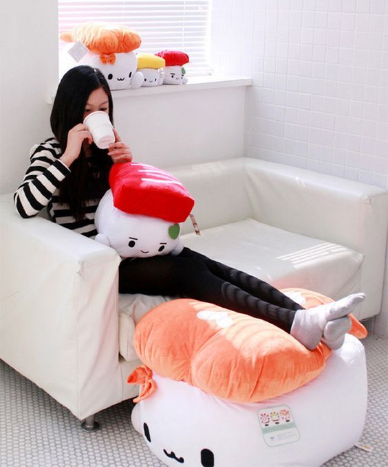 Kawaii Sushi Plush by Cotton Food. I want the giant one it's 70cm!: