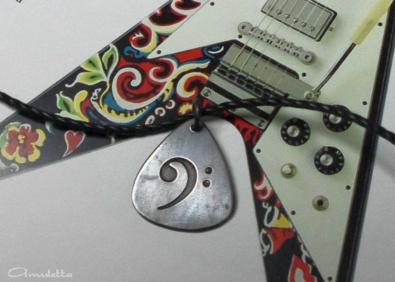 Classy-Pick  Custom guitar pick necklace  small   by AmulettaHu