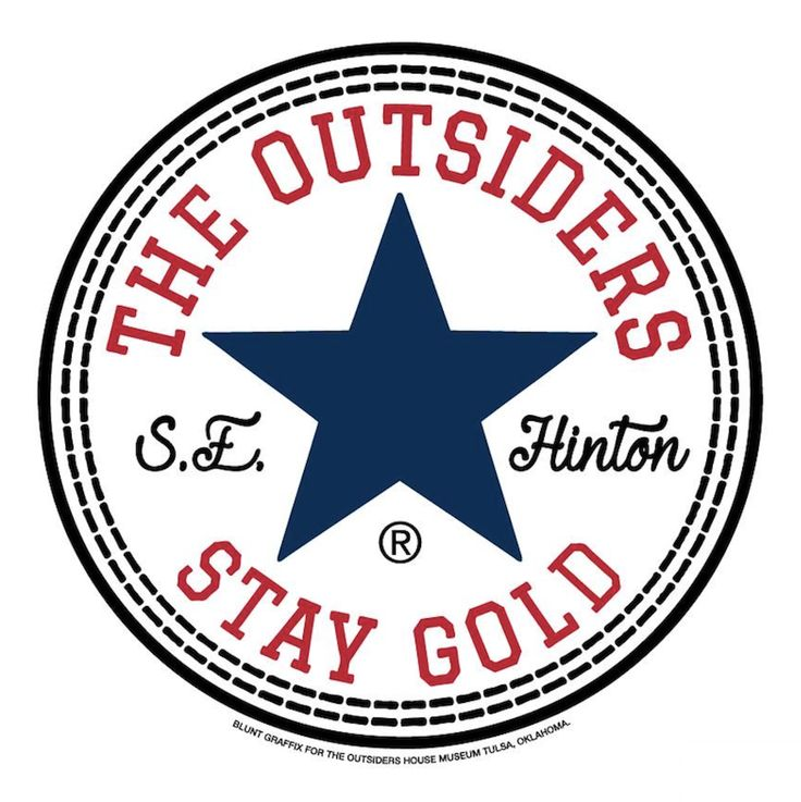 """The Outsiders by S.E. Hinton """"All Star"""" Stay Gold by Blunt Graffix for The Outsiders House Museum Tulsa, Oklahoma. Printed on White Alsty..."""