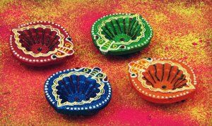 Colourful diwali home decor diyas. Price - £8.99