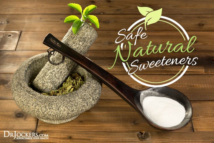 8 Safest sweeteners; Stevia, Monk, Yacon Syrup, Coconut Nectar,  Organic Raw Honey, Organic Blackstrap Molasses, Organic Maple Syrup, Sugar Alcohols