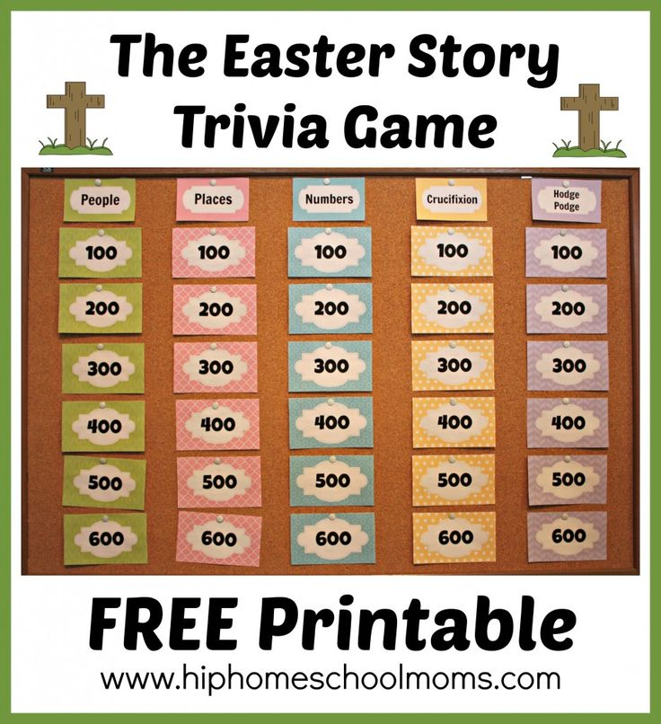 [FREE] Printable Easter Story Trivia Game