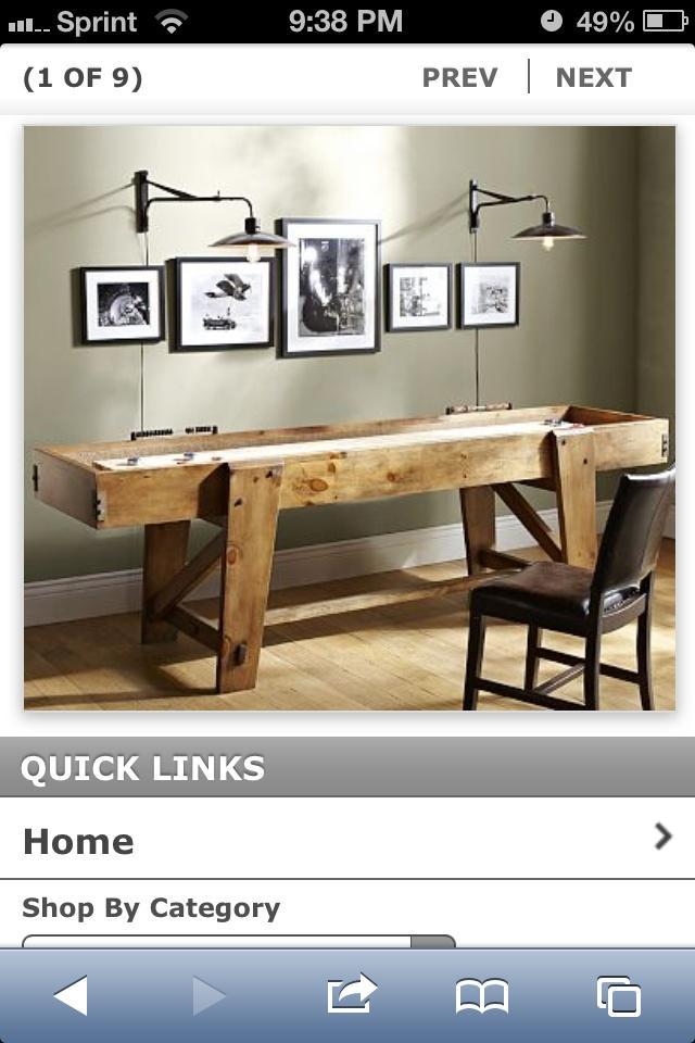 Pottery Barn Shuffle Board Man Cave Ideas Pinterest