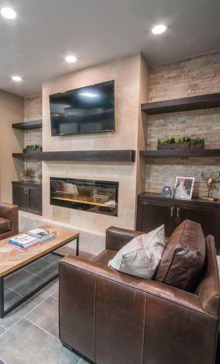Earthy tone fireplace tile - Sandlewood Hones Filled Travertine Floor Tile https://www.tileshop.com/product/658812-P.do